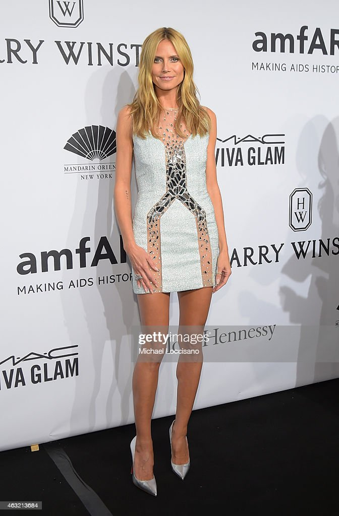 <a gi-track='captionPersonalityLinkClicked' href=/galleries/search?phrase=Heidi+Klum&family=editorial&specificpeople=178954 ng-click='$event.stopPropagation()'>Heidi Klum</a> attends the 2015 amfAR New York Gala at Cipriani Wall Street on February 11, 2015 in New York City.