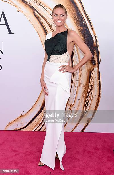 Heidi Klum attends the 2016 CFDA Fashion Awards at the Hammerstein Ballroom on June 6 2016 in New York City