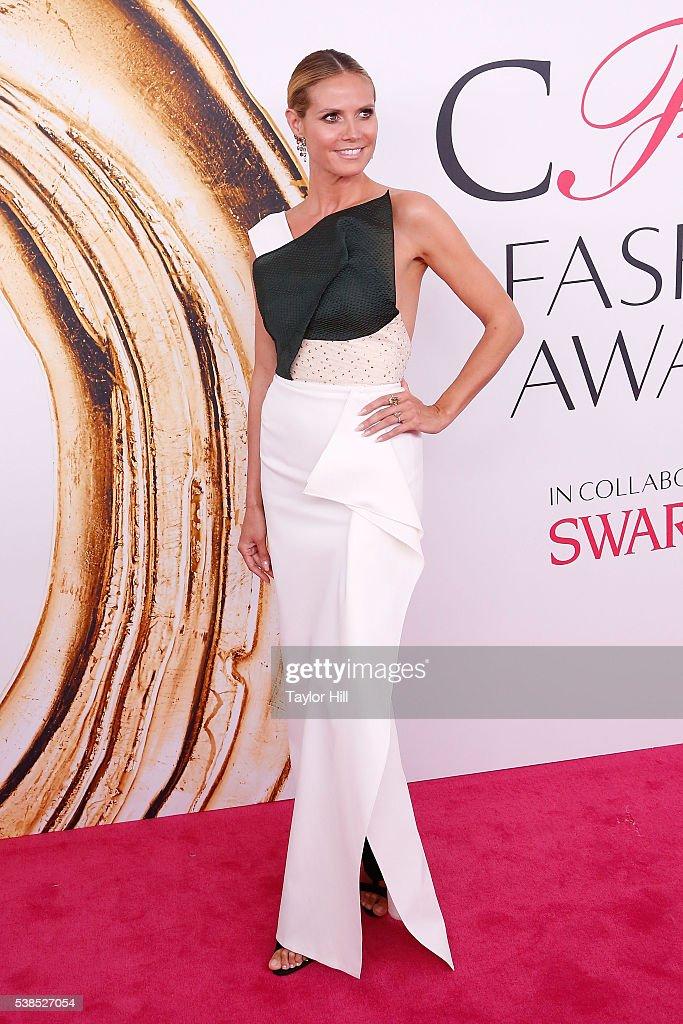 Heidi Klum attends the 2016 CFDA Fashion Awards at the Hammerstein Ballroom on June 6 2016 in New York City