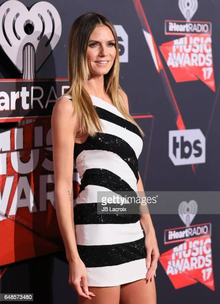 Heidi Klum attends the 2017 iHeartRadio Music Awards at The Forum on March 5 2017 in Inglewood California