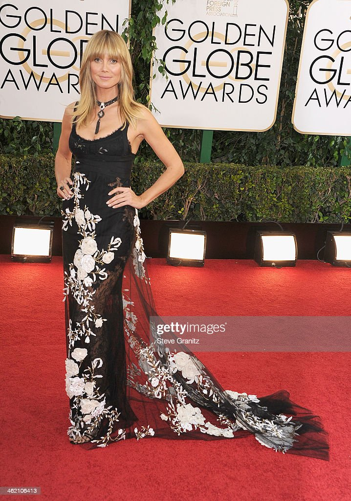 Heidi Klum attends the 71st Annual Golden Globe Awards held at The Beverly Hilton Hotel on January 12 2014 in Beverly Hills California