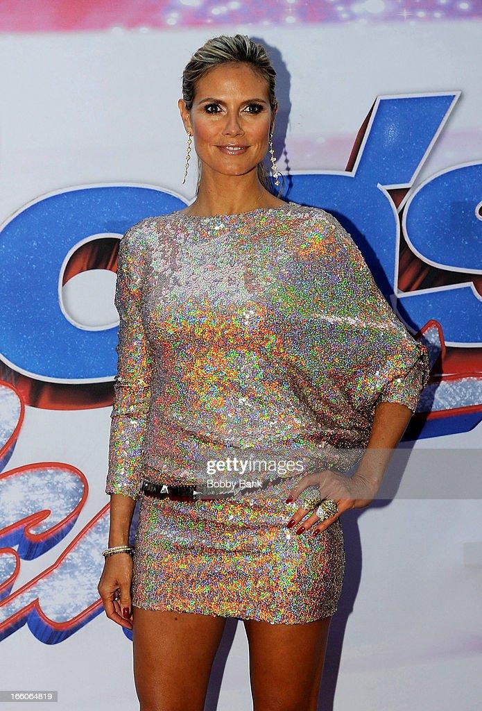Heidi Klum attends the 'America's Got Talent' New York Auditions at Rockefeller Center on April 8, 2013 in New York City.
