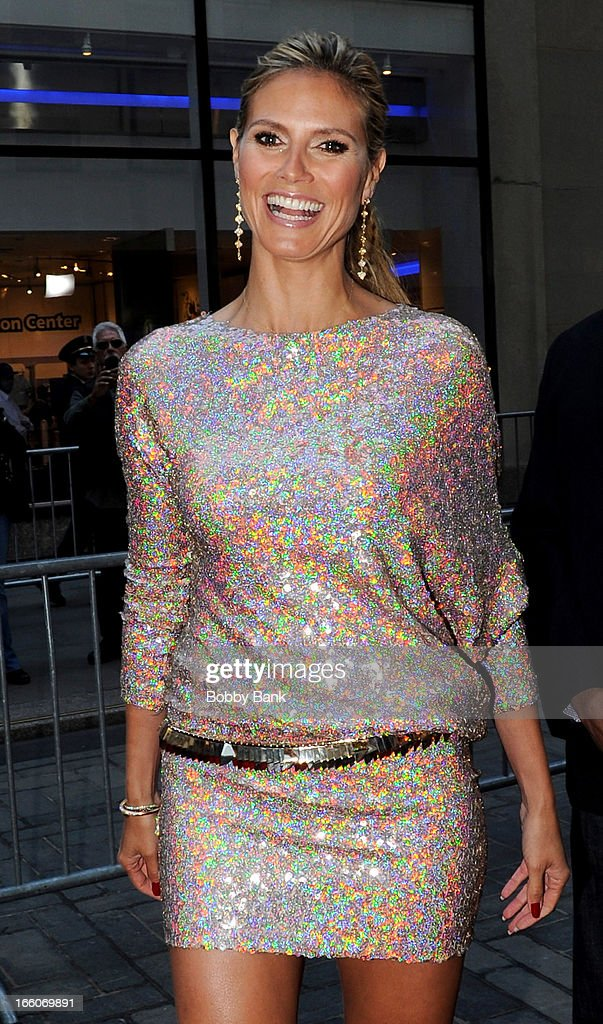 Heidi Klum attends the 'America's Got Talent' New York Auditions at Rockefeller Center on April 8, 2013 in New York City.