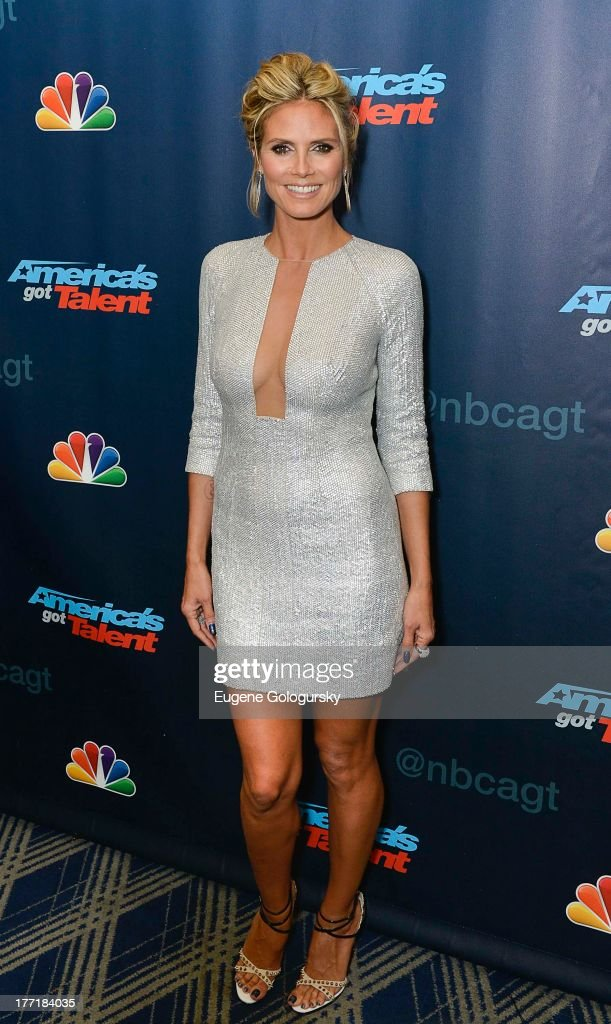 <a gi-track='captionPersonalityLinkClicked' href=/galleries/search?phrase=Heidi+Klum&family=editorial&specificpeople=178954 ng-click='$event.stopPropagation()'>Heidi Klum</a> attends the 'America's Got Talent' post show red carpet at Radio City Music Hall on August 21, 2013 in New York City.