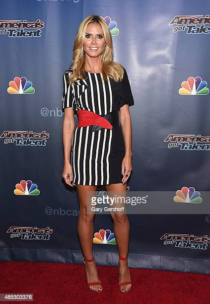 Heidi Klum attends the 'America's Got Talent' postshow red carpet at Radio City Music Hall on August 26 2015 in New York City