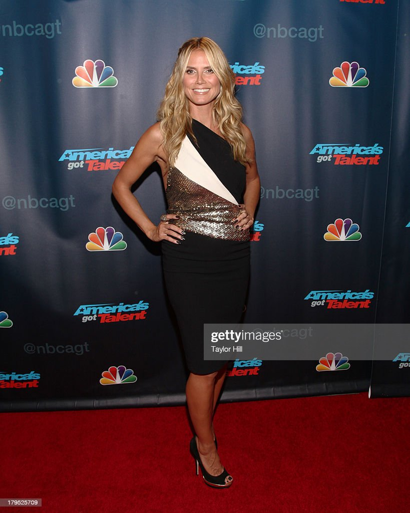 <a gi-track='captionPersonalityLinkClicked' href=/galleries/search?phrase=Heidi+Klum&family=editorial&specificpeople=178954 ng-click='$event.stopPropagation()'>Heidi Klum</a> attends the 'America's Got Talent' Season 8 Red Carpet Event at Radio City Music Hall on September 4, 2013 in New York City.