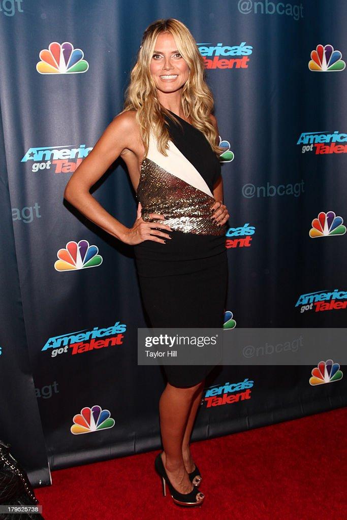 Heidi Klum attends the 'America's Got Talent' Season 8 Red Carpet Event at Radio City Music Hall on September 4, 2013 in New York City.