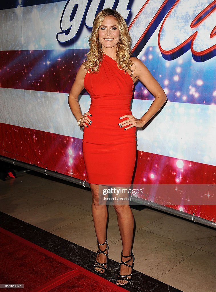 Heidi Klum attends the 'America's Got Talent' season eight premiere party at the Pantages Theatre on April 24, 2013 in Hollywood, California.