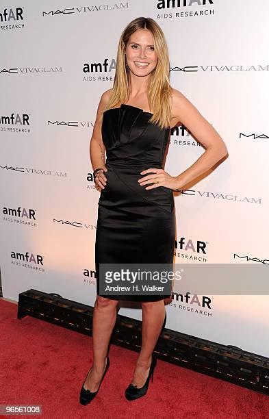 Heidi Klum attends the amfAR New York Gala cosponsored by MAC Cosmetics to Kick Off Fall 2010 Fashion Week at Cipriani 42nd Street on February 10...