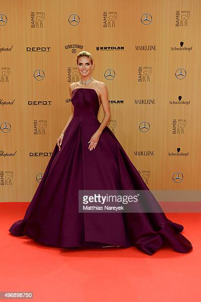Heidi Klum attends the Bambi Awards 2015 at Stage Theater on November 12 2015 in Berlin Germany