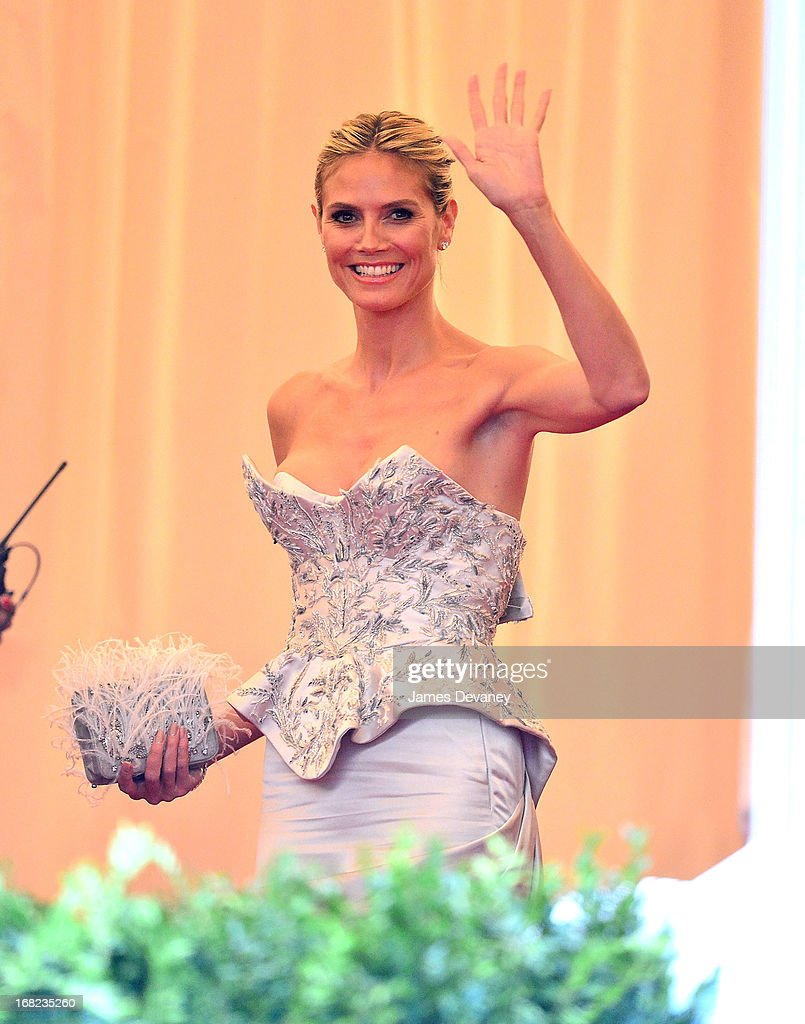 <a gi-track='captionPersonalityLinkClicked' href=/galleries/search?phrase=Heidi+Klum&family=editorial&specificpeople=178954 ng-click='$event.stopPropagation()'>Heidi Klum</a> attends the Costume Institute Gala for the 'PUNK: Chaos to Couture' exhibition at the Metropolitan Museum of Art on May 6, 2013 in New York City.