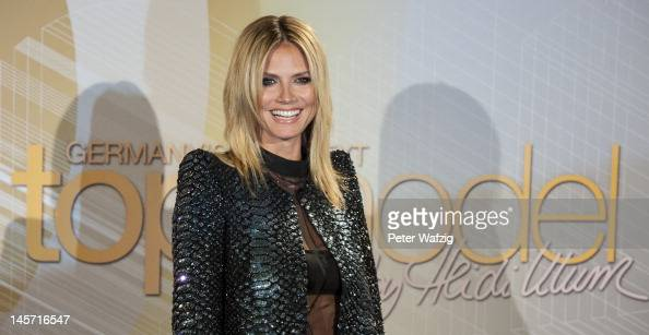 Heidi Klum attends the Germany's Next Topmodel Finalists Photocall at the LanxessArena on June 04 2012 in Cologne Germany