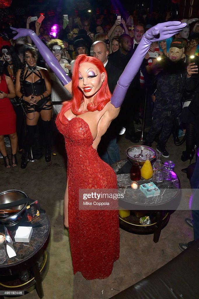 Heidi Klum attends the Heidi Klum's 16th Annual Halloween Party sponsored by GSN's Hellevator And SVEDKA Vodka At LAVO New York on October 31, 2015 in New York City.