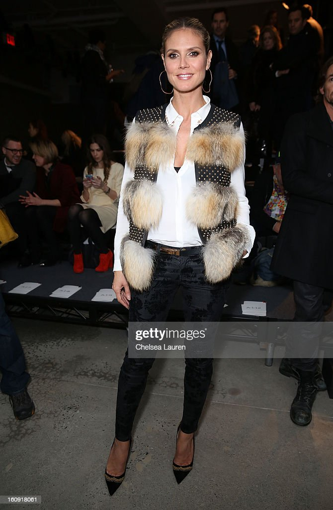 <a gi-track='captionPersonalityLinkClicked' href=/galleries/search?phrase=Heidi+Klum&family=editorial&specificpeople=178954 ng-click='$event.stopPropagation()'>Heidi Klum</a> attends the Kenneth Cole Collection Fall 2013 fashion show during Mercedes-Benz Fashion Week at 537 West 27th Street on February 7, 2013 in New York City.
