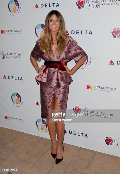 Heidi Klum attends the mothers2mothers and The Elizabeth Taylor AIDS Foundation Benefit Dinner on October 24 2017 in Beverly Hills California