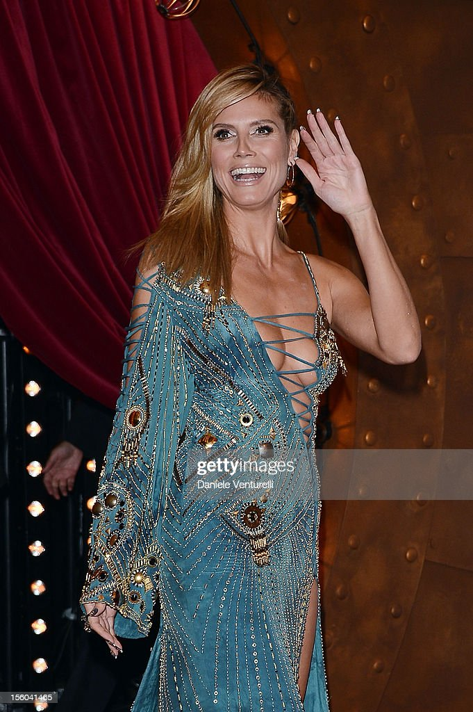 Heidi Klum attends the MTV EMA's 2012 at Festhalle Frankfurt on November 11, 2012 in Frankfurt am Main, Germany.