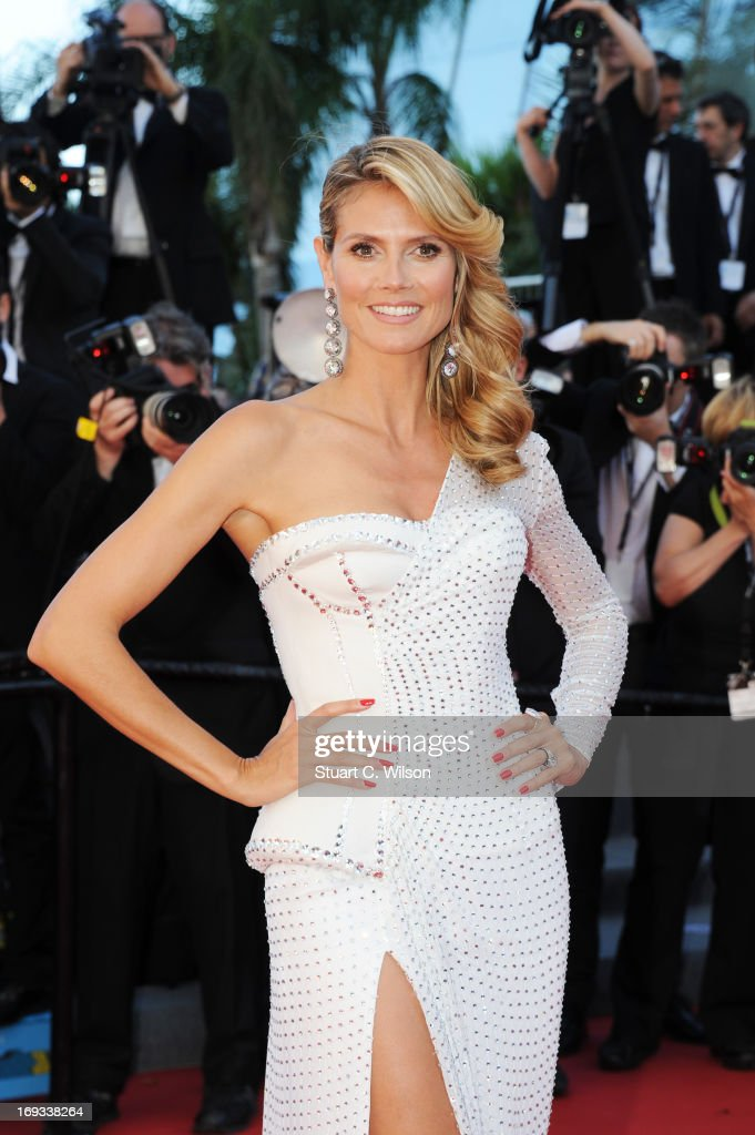 <a gi-track='captionPersonalityLinkClicked' href=/galleries/search?phrase=Heidi+Klum&family=editorial&specificpeople=178954 ng-click='$event.stopPropagation()'>Heidi Klum</a> attends the 'Nebraska' premiere during The 66th Annual Cannes Film Festival at the Palais des Festival on May 23, 2013 in Cannes, France.
