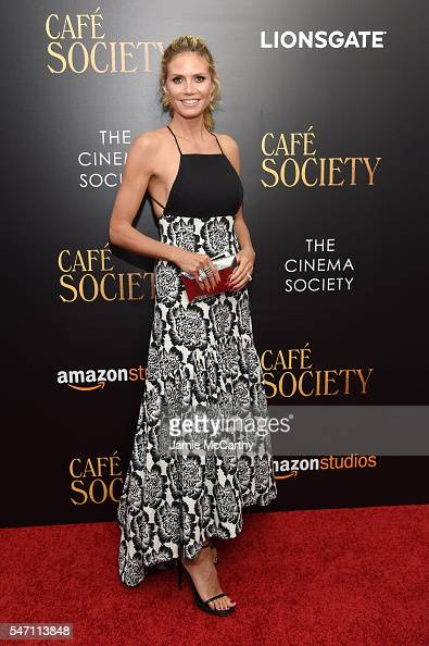 Heidi Klum attends the premiere of 'Cafe Society' hosted by Amazon Lionsgate with The Cinema Society at Paris Theatre on July 13 2016 in New York City