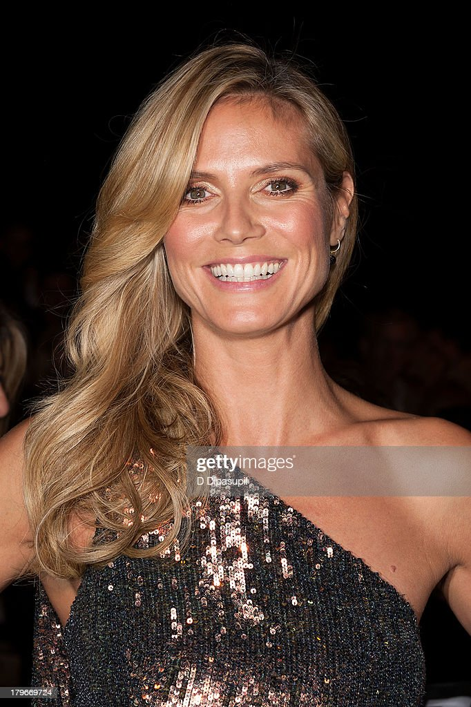 <a gi-track='captionPersonalityLinkClicked' href=/galleries/search?phrase=Heidi+Klum&family=editorial&specificpeople=178954 ng-click='$event.stopPropagation()'>Heidi Klum</a> attends the Project Runway Spring 2014 fashion show at The Theater at Lincoln Center on September 6, 2013 in New York City.