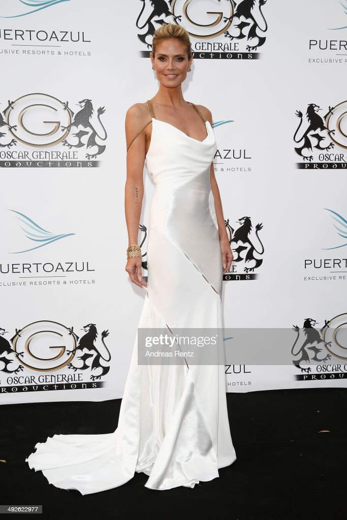 <a gi-track='captionPersonalityLinkClicked' href=/galleries/search?phrase=Heidi+Klum&family=editorial&specificpeople=178954 ng-click='$event.stopPropagation()'>Heidi Klum</a> attends the Puerto Azul Experience at the 67th Annual Cannes Film Festival on May 21, 2014 in Cannes, France.