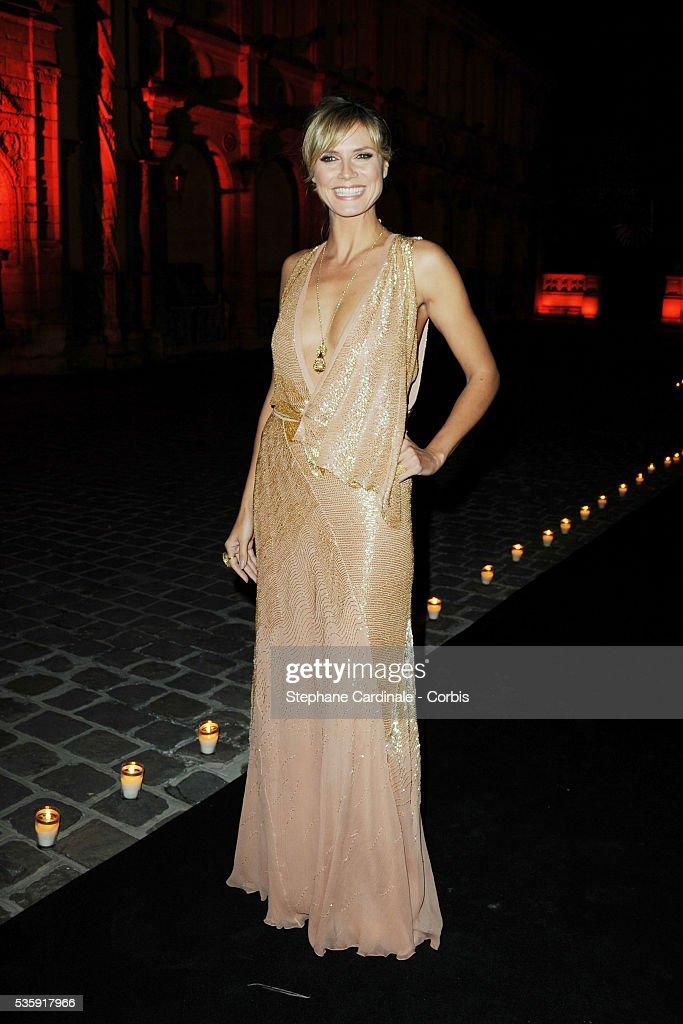 Heidi Klum attends the Roberto Cavalli Celebrate 40 Party at 'Les Beaux-Arts' in Paris.