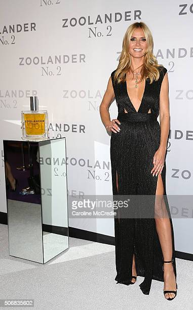 Heidi Klum attends the Sydney Fan Screening Event of the Paramount Pictures film 'Zoolander No 2' at the State Theatre on January 26 2016 in Sydney...