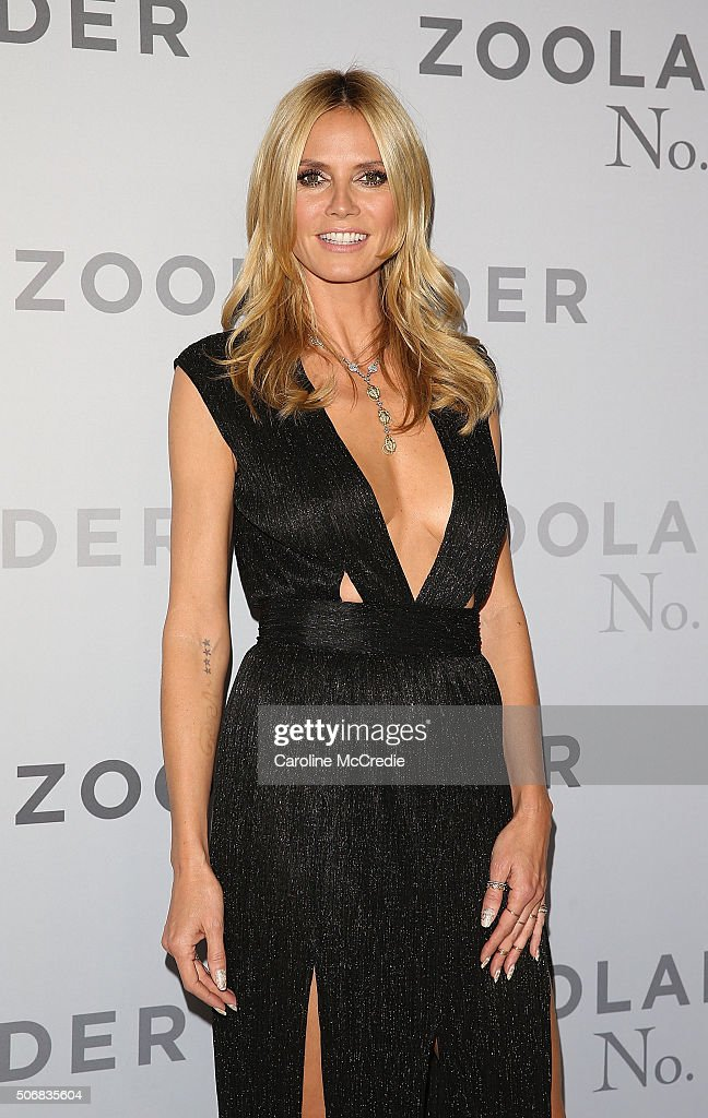 <a gi-track='captionPersonalityLinkClicked' href=/galleries/search?phrase=Heidi+Klum&family=editorial&specificpeople=178954 ng-click='$event.stopPropagation()'>Heidi Klum</a> attends the Sydney Fan Screening Event of the Paramount Pictures film 'Zoolander No. 2' at the State Theatre on January 26, 2016 in Sydney, Australia.