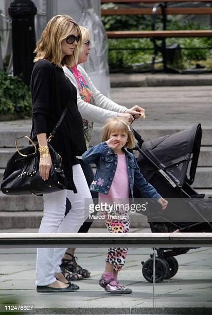 Heidi Klum daughter Helene 'Leni' Klum and her mother Erna Klum are seen on the Streets of Manhattan on June 17 2009 in New York City