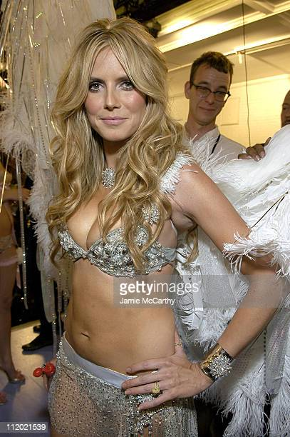 Heidi Klum during 10th Victoria's Secret Fashion Show Backstage at The New York State Armory in New York City New York United States