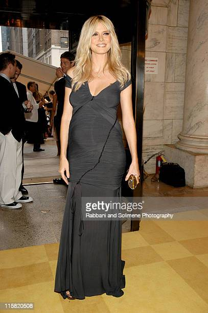 Heidi Klum during 2005 CFDA Fashion Awards Inside Arrivals at New York Public Library in New York City New York United States