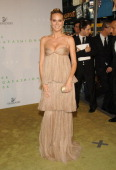 Heidi Klum during 2006 CFDA Awards Arrivals at New York Public Library in New York City New York United States