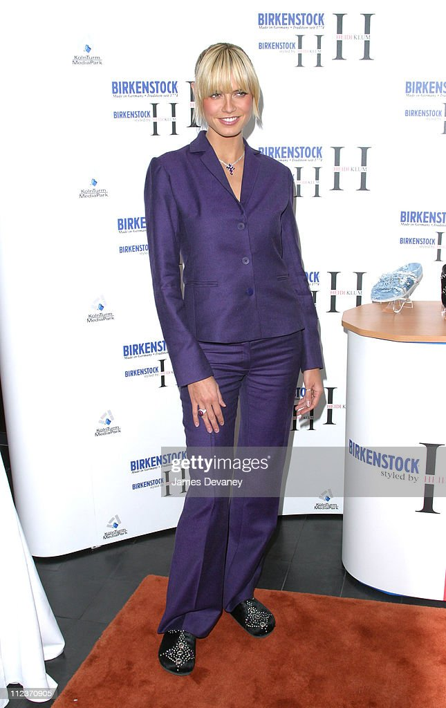 Heidi Klum during Heidi Klum Launches Self-Designed Collection for Famed Shoe Company Birkenstock at Bryant Park Hotel Cellar Bar in New York City, New York, United States.