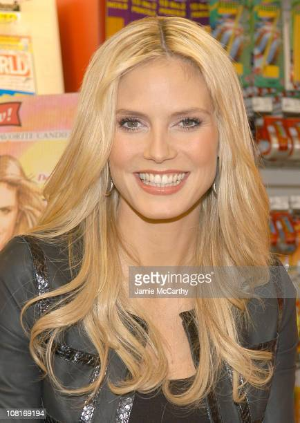 Heidi Klum during Supermodel Heidi Klum Launches Her New Candy Line My Favorite Candies from Hillside Candy at Duane Reade in New York City New York...