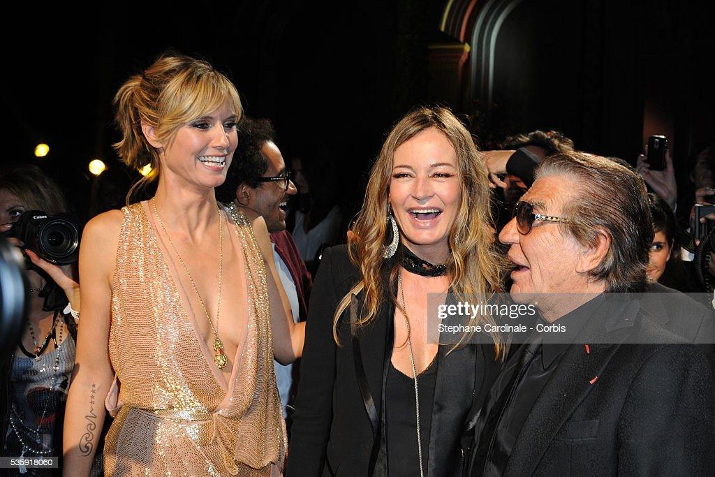 Heidi Klum, Eva Cavalli and Roberto Cavalli attend the Roberto Cavalli Celebrate 40 Party at 'Les Beaux-Arts' in Paris.