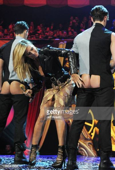 Heidi Klum hosts at the MTV EMA's 2012 at Festhalle Frankfurt on November 11 2012 in Frankfurt am Main Germany