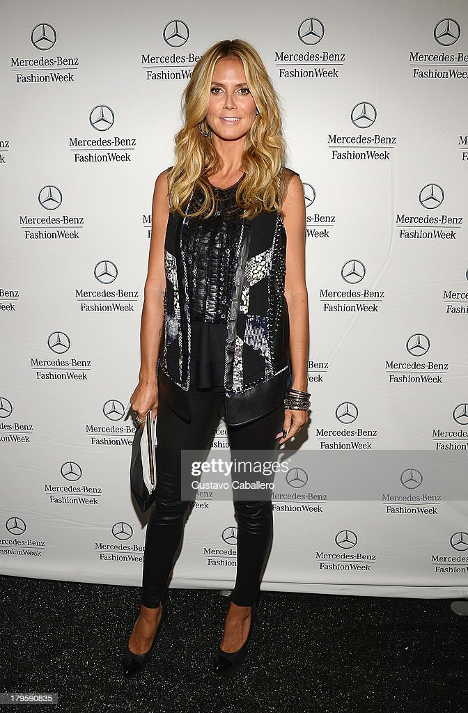 Heidi Klum is seen around Lincoln Center - Day 1 - Mercedes-Benz Fashion Week Spring 2014 at Lincoln Center for the Performing Arts on September 5, 2013 in New York City.