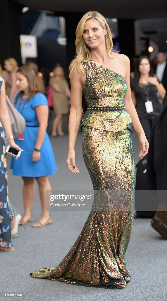 <a gi-track='captionPersonalityLinkClicked' href=/galleries/search?phrase=Heidi+Klum&family=editorial&specificpeople=178954 ng-click='$event.stopPropagation()'>Heidi Klum</a> is seen around Lincoln Center - Day 2 - Mercedes-Benz Fashion Week Spring 2014 at Lincoln Center for the Performing Arts on September 6, 2013 in New York City.