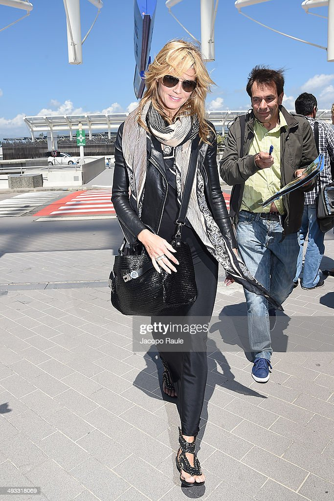 Heidi Klum is seen arriving in Nice for the 67th Annual Cannes Film Festival on May 23, 2014 in Nice, France.
