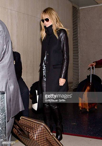 Heidi Klum is seen at LAX airport on February 01 2014 in Los Angeles California