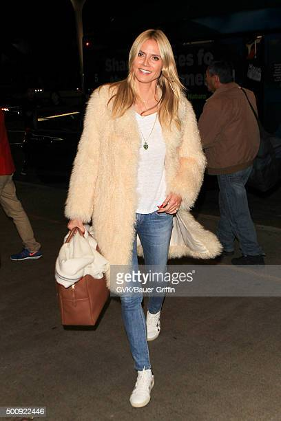 Heidi Klum is seen at LAX on December 10 2015 in Los Angeles California