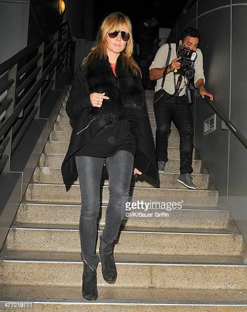 Heidi Klum is seen at LAX on March 07 2014 in Los Angeles California