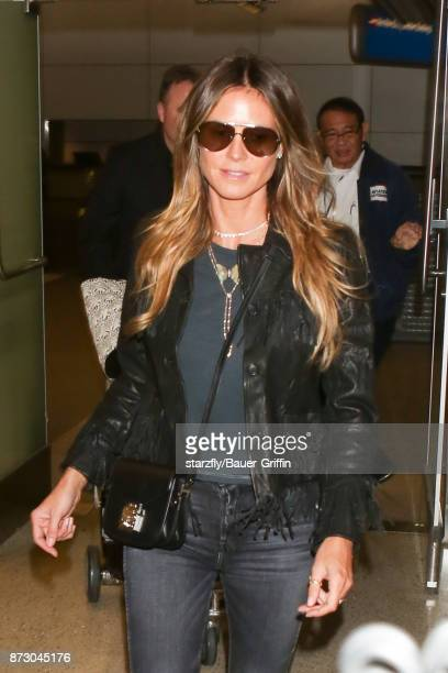 Heidi Klum is seen at LAX on November 11 2017 in Los Angeles California