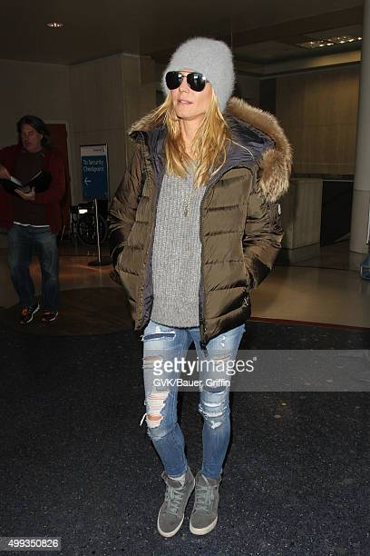 Heidi Klum is seen at LAX on November 30 2015 in Los Angeles California