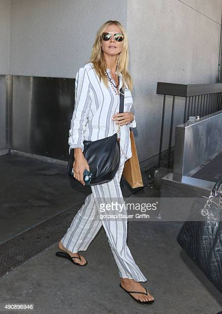 Heidi Klum is seen at LAX on October 01 2015 in Los Angeles California