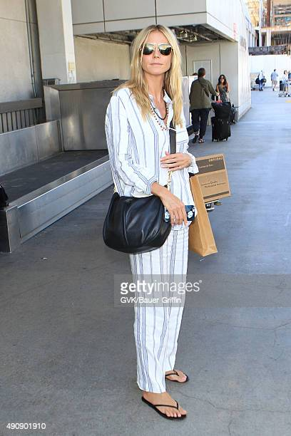 Heidi Klum is seen at LAX on October 01 2015 in Los Angeles California