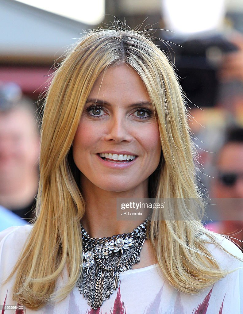 Heidi Klum is seen at The Grove on March 14 2013 in Los Angeles California