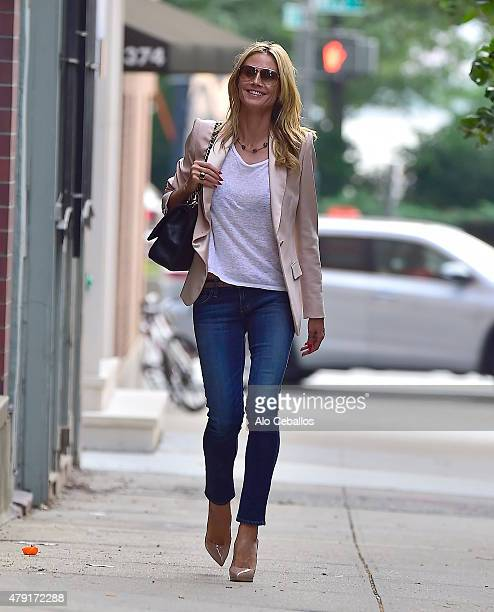 Heidi Klum is seen in the west Village on July 1 2015 in New York City