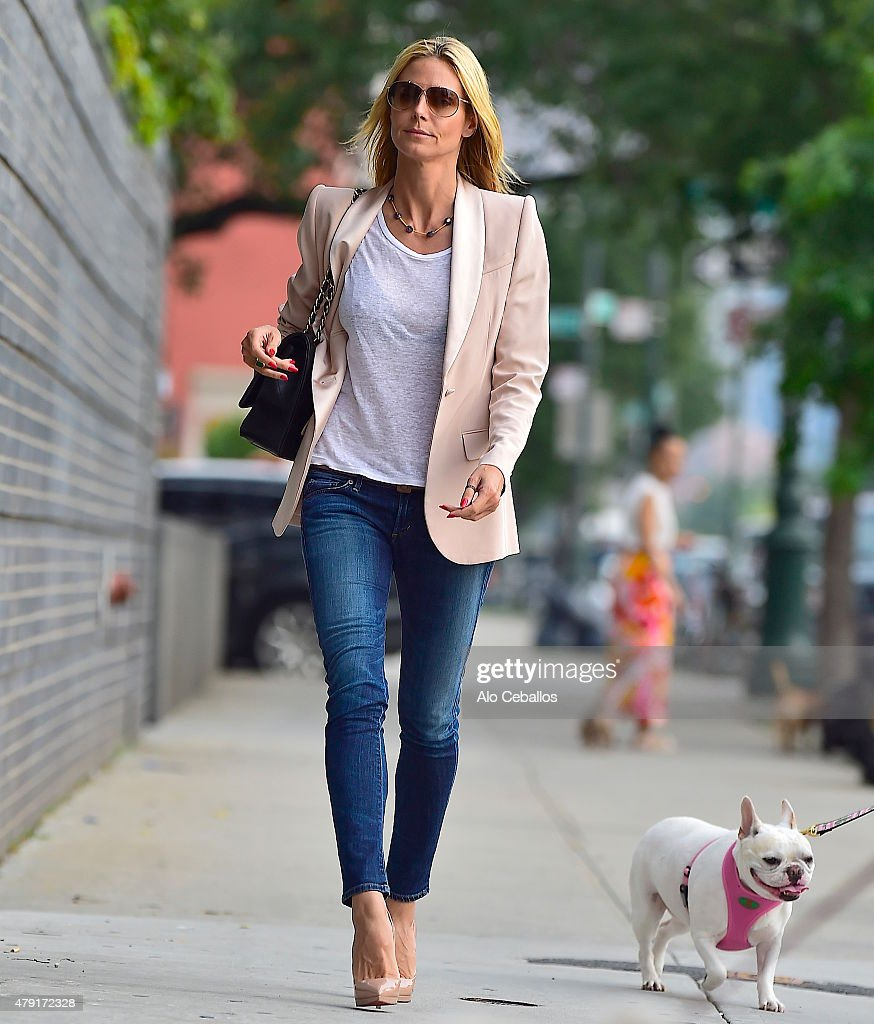Heidi Klum is seen in the west Village on July 1 2015 in New York City