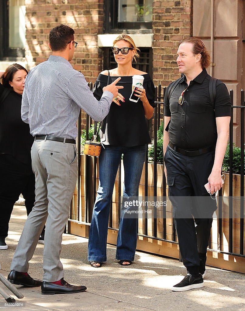 <a gi-track='captionPersonalityLinkClicked' href=/galleries/search?phrase=Heidi+Klum&family=editorial&specificpeople=178954 ng-click='$event.stopPropagation()'>Heidi Klum</a> is seen looking at a new apartment in Soho on June 27, 2016 in New York City.