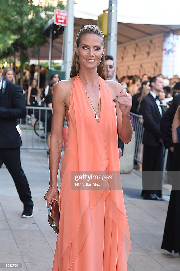 Heidi Klum is seen on June 2, 2014 arriving at The 2014 CFDA Fashion Awards in New York City.